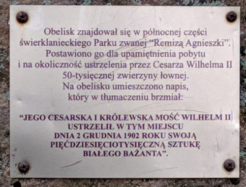 Obelisk_tablica_Swierklaniec
